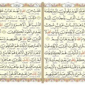 قرآن جیبی وزیری 4 رنگ خط مصطفی اشرفی ترجمه الهی قمشهای - انتشارات پیام عدالت