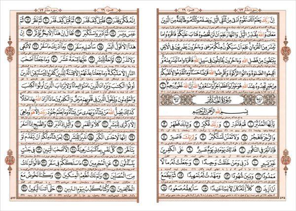 قرآن وزیری 2 رنگ خط عثمان ظه ترجمه انصاریان - انتشارات پیام بهاران